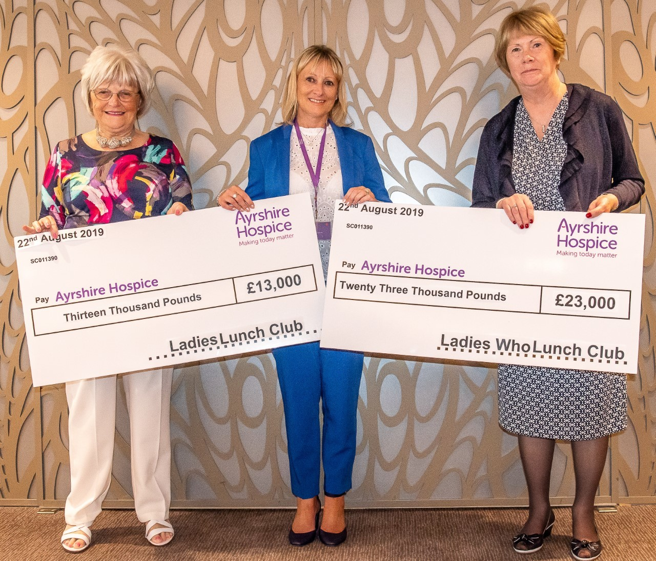 Lady lunch clubs boost for Ayrshire Hospice