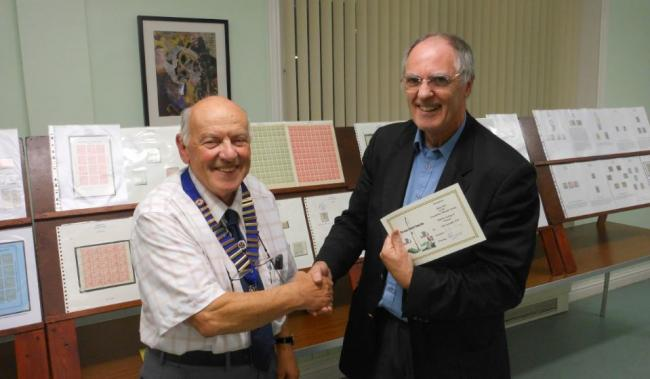 A first class talk for Largs and District Stamp Club