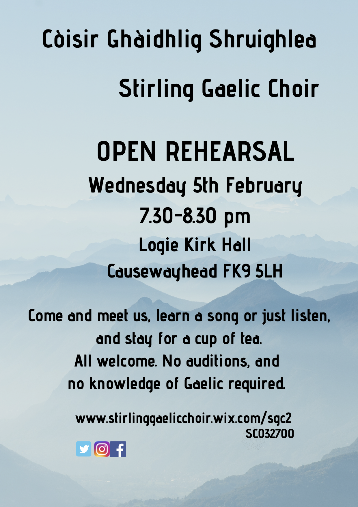 Stirling Gaelic Choir Open Rehearsal