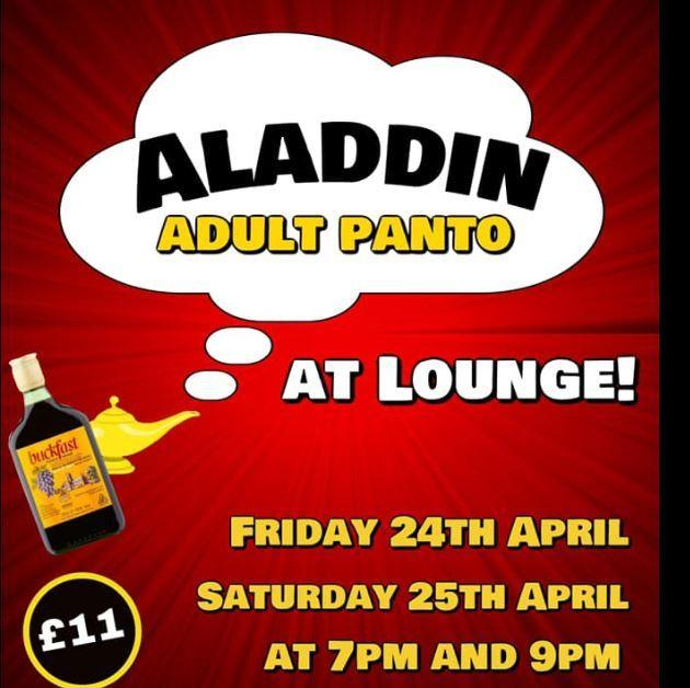 Adult panto season at Lounge