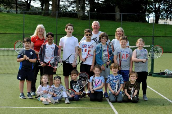 Community tennis day in Largs