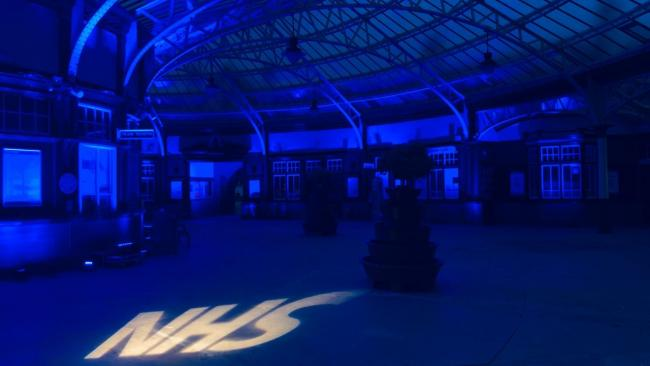 Wemyss Bay Station's light show in support of NHS