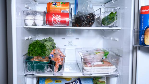 Largs and Millport Weekly News: Use an organising set to create more storage zones in your fridge. Credit: Reviewed / Betsey Goldwasser