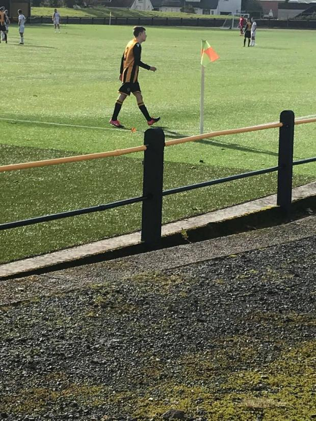 Largs and Millport Weekly News: Laurie McMaster marches off after red card