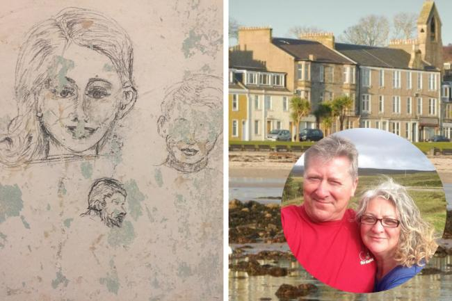 Ayrshire couple find amazing 100-year-old drawings while renovating island home