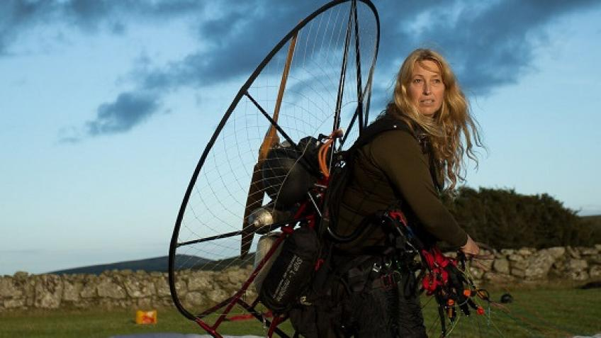 Sacha Dench in Round Britain Guinness World Record Climate Challenge by electric paramotor - Largs and Millport Weekly News