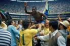 Pele celebrates winning the 1970 World Cup in Mexico. Picture: Alessandro Sabattini/Getty Images