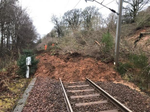 WATCH Network Rail release video on Fairlie landslide