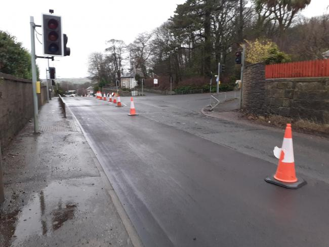 Update  on Haylie Brae situation after roadworks cause disruption. Picture: Largs Community Resilience Team