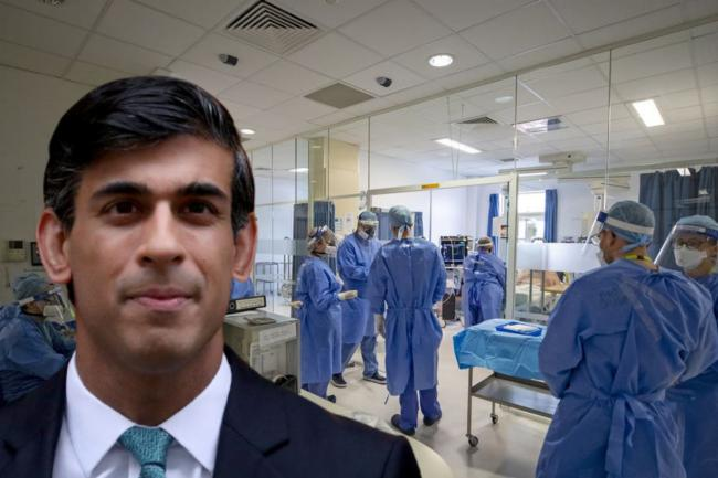 Rishi Sunak warned no NHS pay rise would be a 'kick in the teeth'. (PA/Canva)