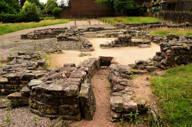 Largs and Millport Weekly News: The ancient Roman baths complex at Bearsden, which formed part of the Antonine Wall