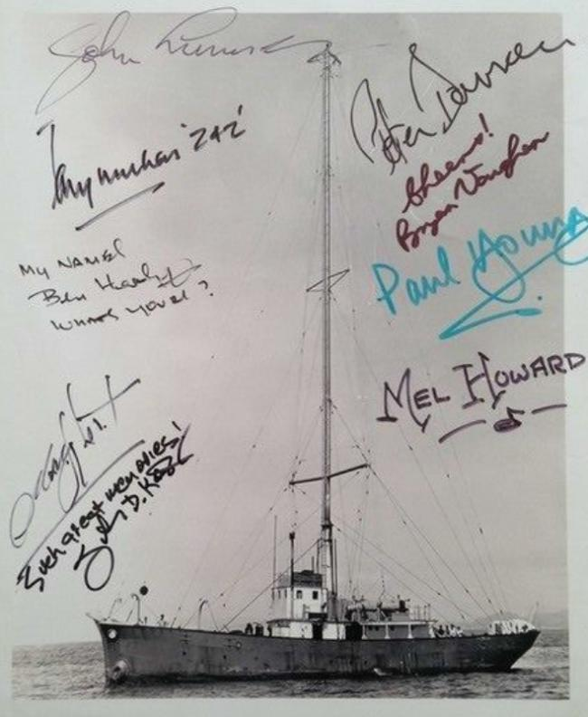 A rare autographed picture of Radio Scotland 242
