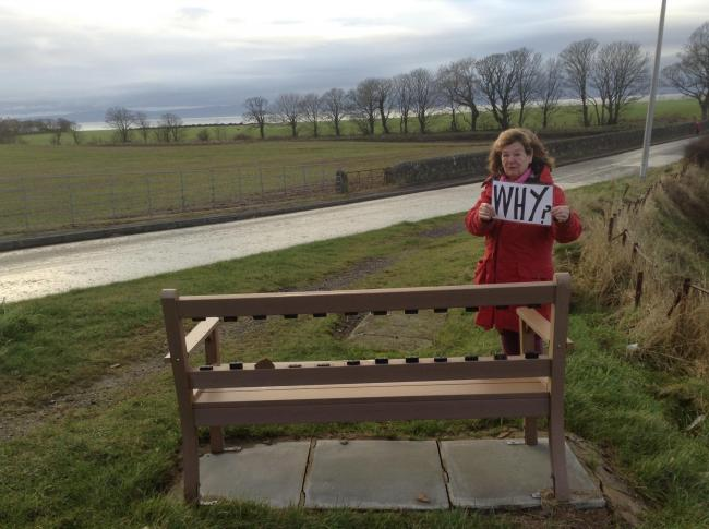 Wood you believe it? Audrey Kolon asks 'Why?' after more benches are vandalised in the local neighbourhood.