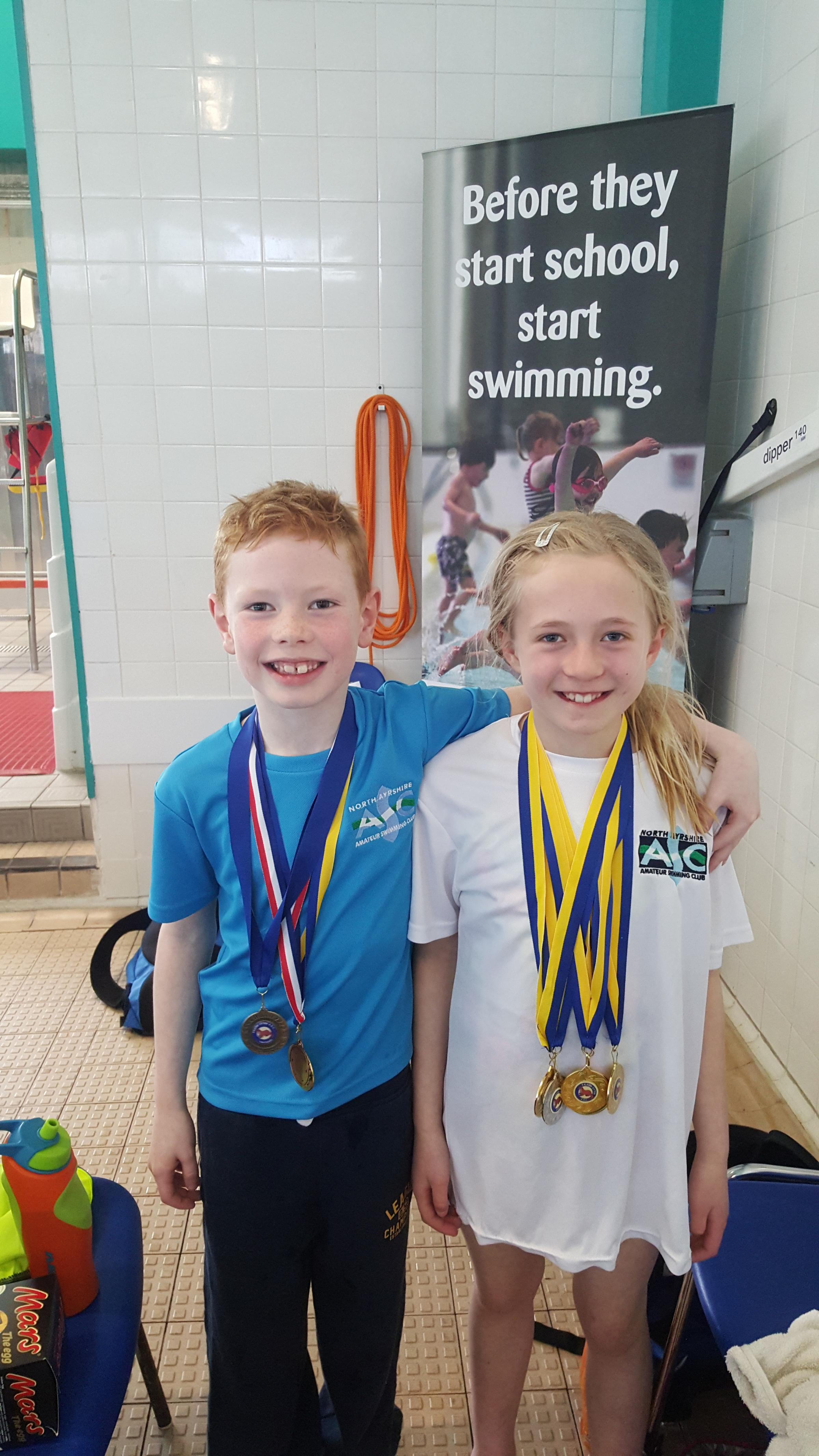 Making waves ... Largs swimmer Isla wins gold in swim