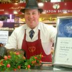 Largs and Millport Weekly News: Scott Paton with his prize winning black puddings are heading to Largs Food Fest.
