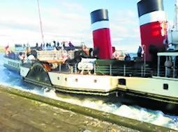 The Waverley arriving at Millport Pier a few years ago.