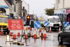 Roadworks took place in Largs Main Street on Sunday October 1.