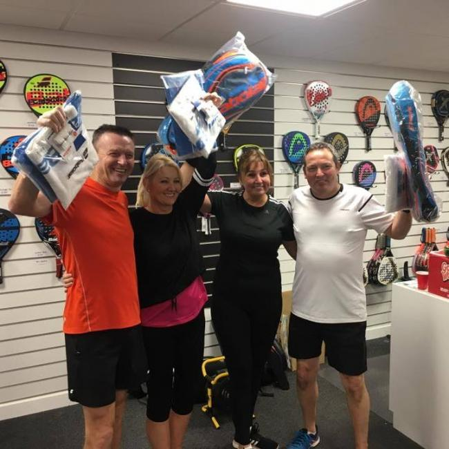 David McCulloch, June McCulloch, Gillian Davidson and John Byrne triumped at a UK tour padel event last year.