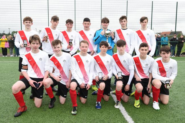 Thistle U16s with the Ayrshire League Cup.