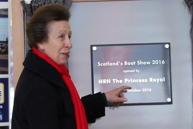 Princess Anne at last year's boat show in Inverkip.