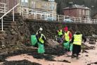 Beach clean in Millport.
