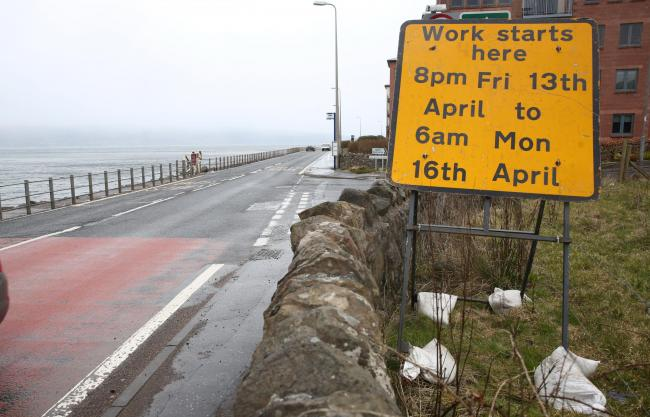 A78 Road closure this weekend from Largs to Skelmorlie