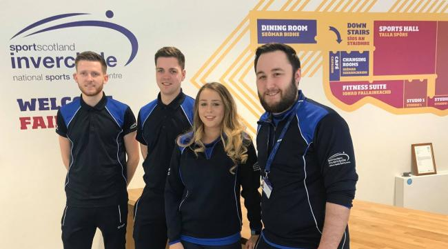 Inverclyde Sports Centre coaching team