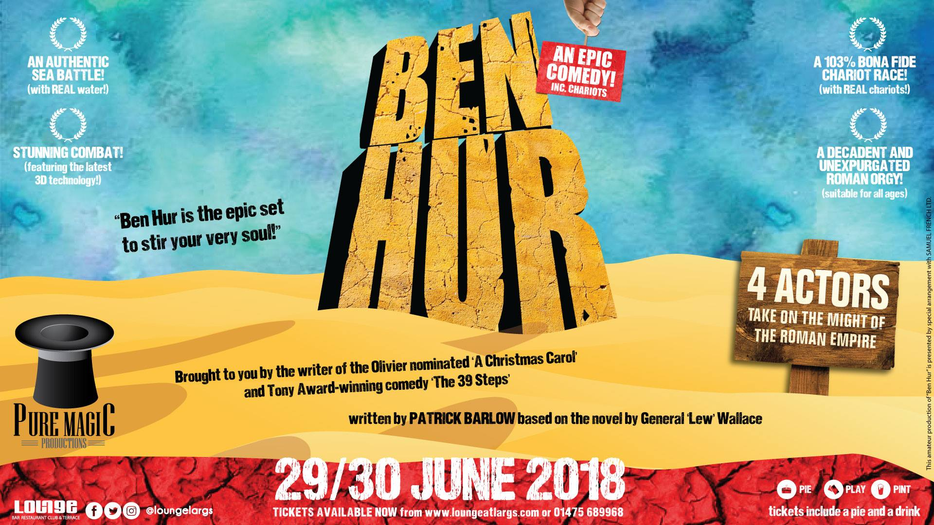 Ben Hur epic coming to Largs in 3D comedy show