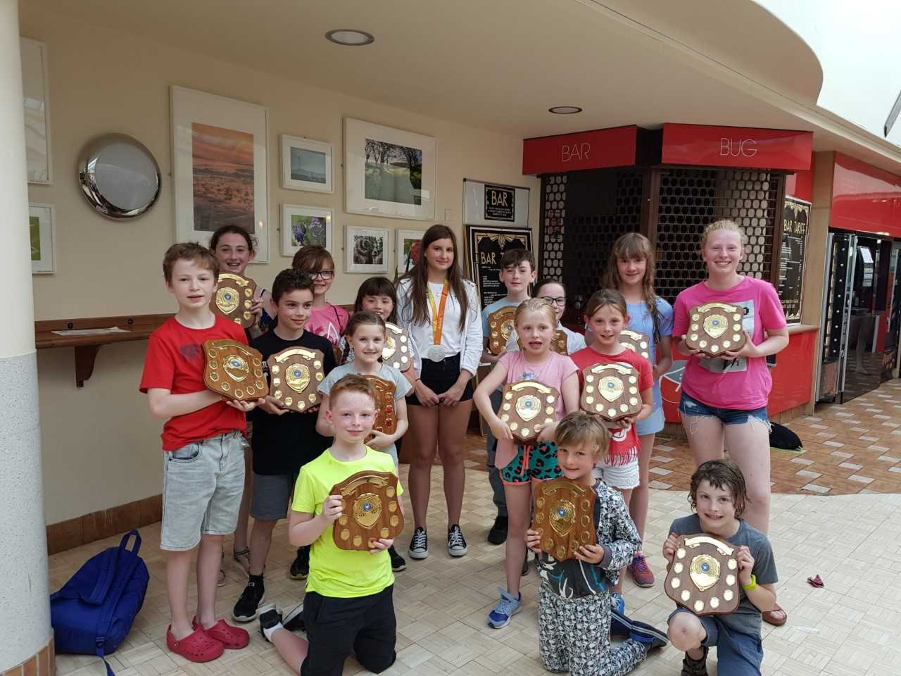 Parlaympics silver medallist Abby presents trophies to swim club