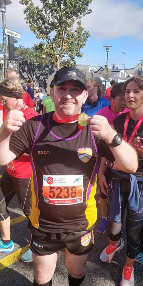Ice cool Ian completes in Iceland half marathon for Beatson