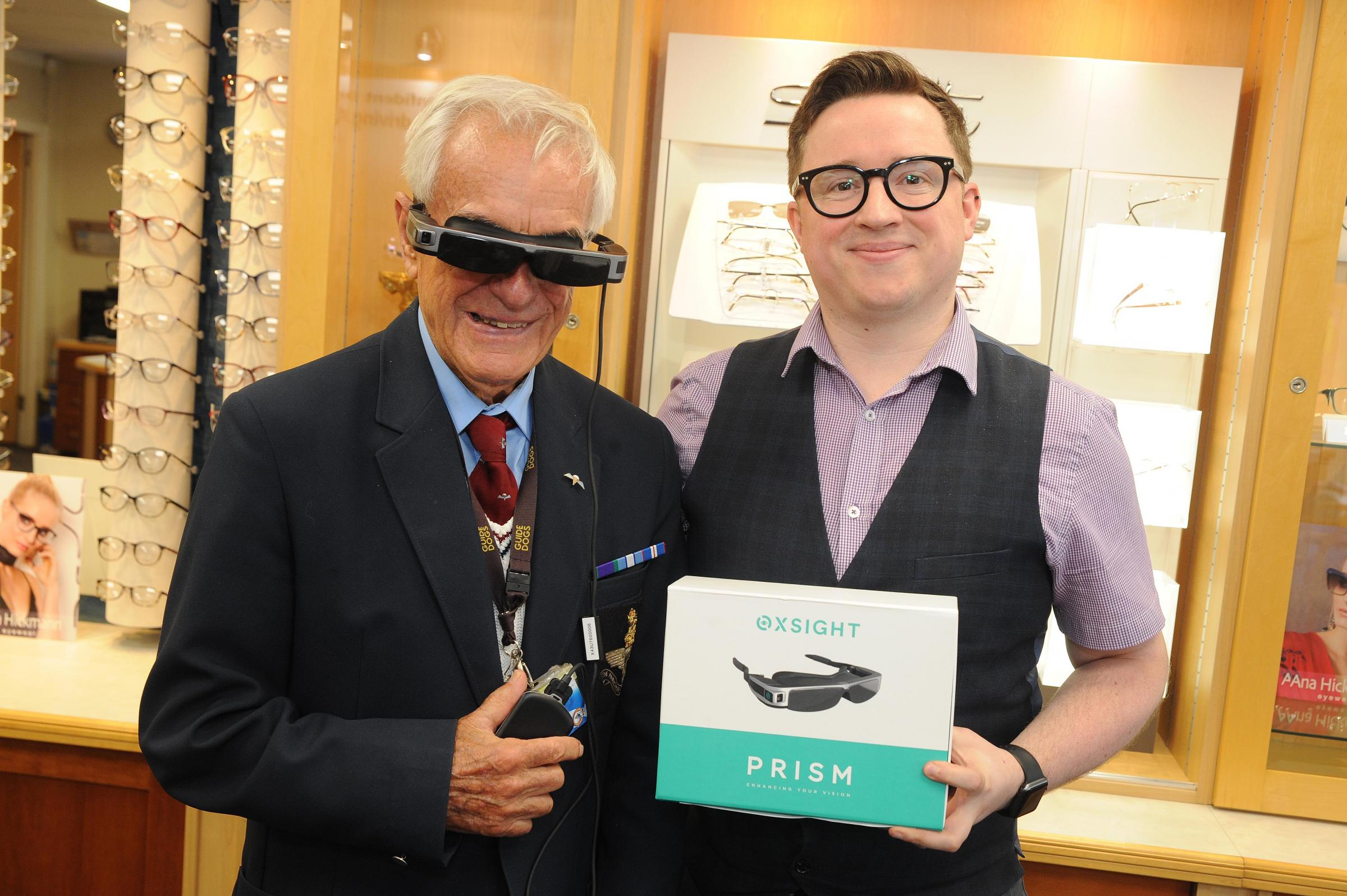 Blind Largs veteran's eyesight saved thanks to new tech