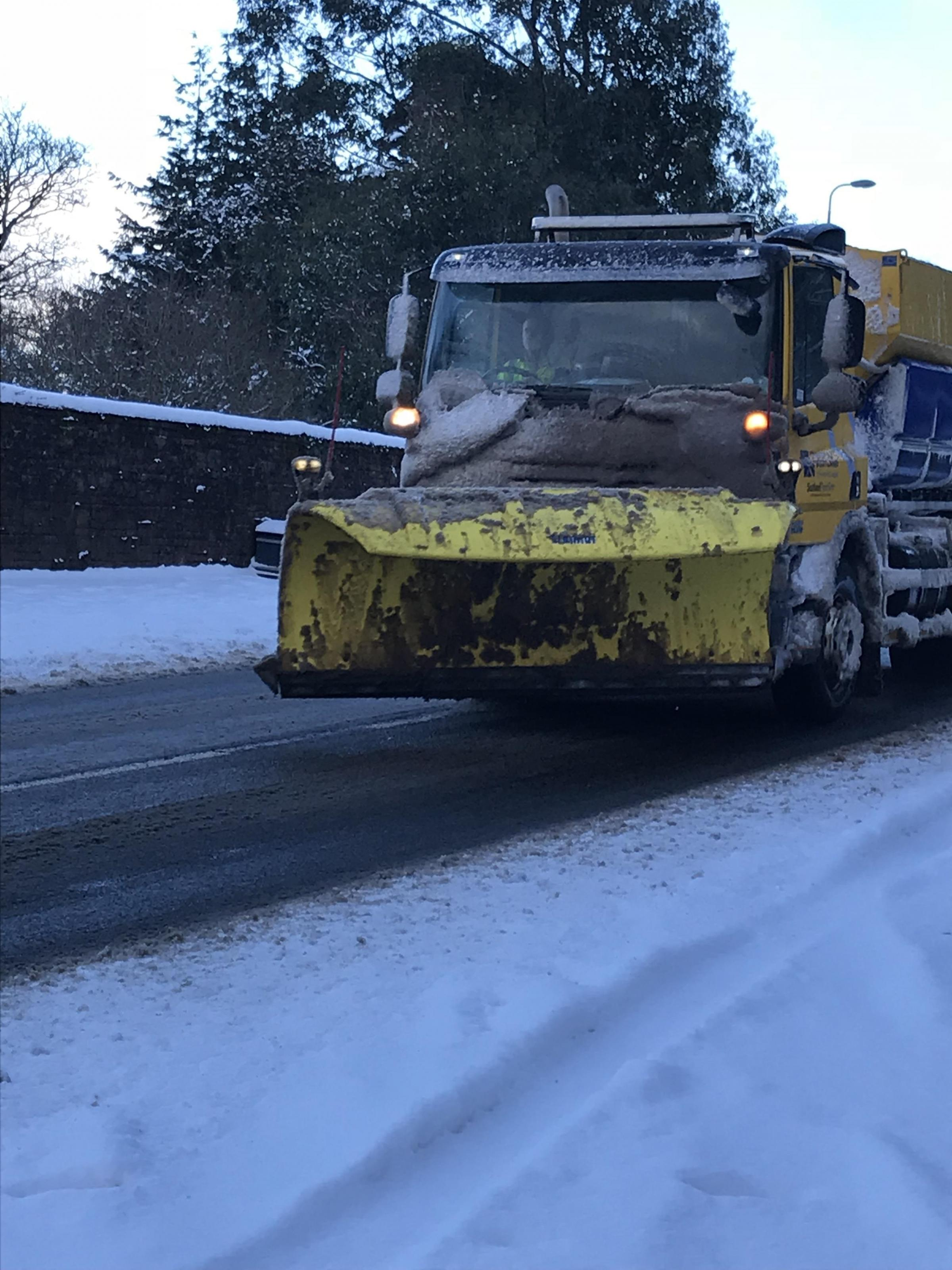 Motorists warning for snow and ice in North Ayrshire