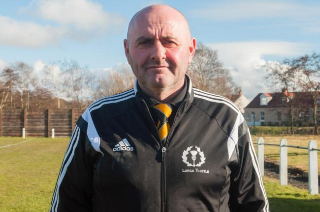 Largs Thistle president Peter Connor - Photo Ryan Scott Photography