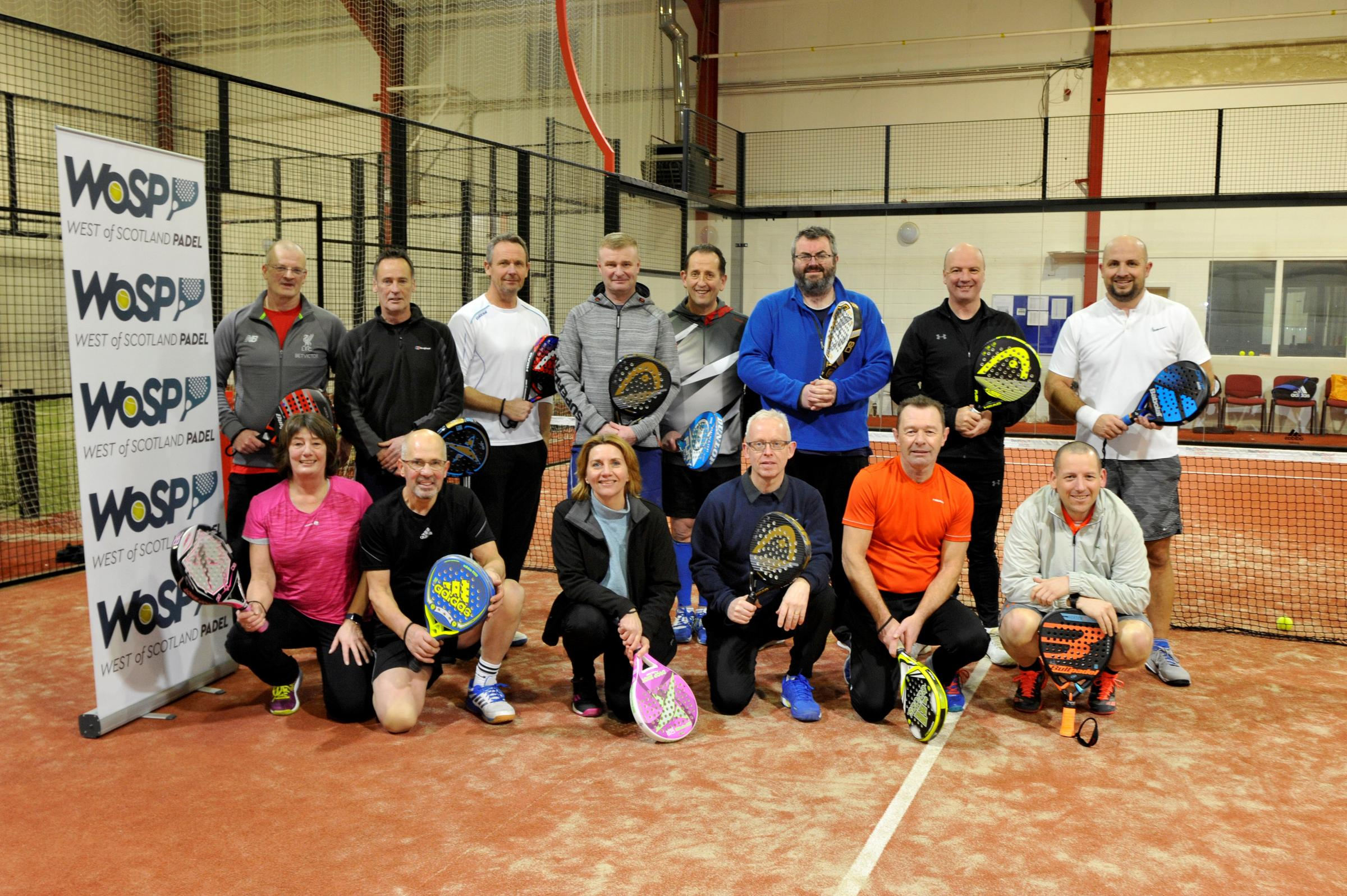Largs and Fairlie padel players enjoy new sport