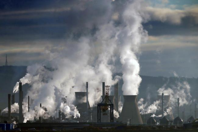 Grangemouth oil refinery, as a report warns that UK oil and gas plans are incompatible with responding to the climate emergency