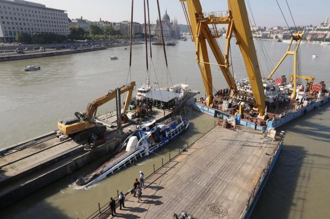 Bodies recovered as sunken Danube boat raised in Hungary